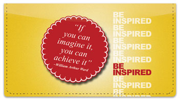 Be Inspired Checkbook Cover