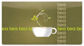 Tea Time Checkbook Cover