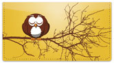 Cartoon Owl Checkbook Cover