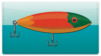Fishing Lure Checkbook Cover