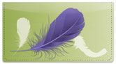 Fancy Feather Checkbook Cover