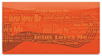 Jesus Loves Me Checkbook Cover