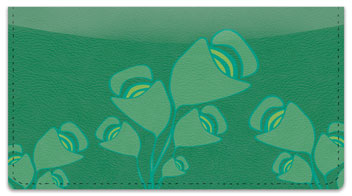 Green Bouquet Checkbook Cover