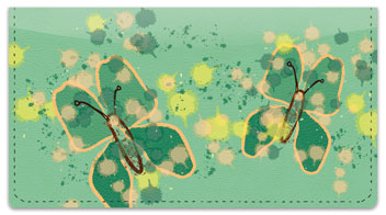 Butterfly Sketch Checkbook Cover