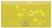 Chive Flowers Checkbook Cover