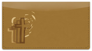 Cross Symbol Checkbook Cover