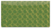 Green Bubble Pattern Checkbook Cover