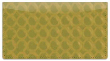 Gold Bubble Pattern Checkbook Cover
