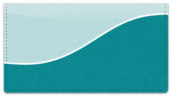 Blue Graceful Line Checkbook Cover