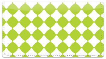 Lime Green Bead Checkbook Cover