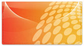 Orange Contempo Checkbook Cover