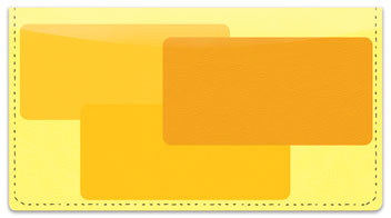 Yellow Rectangle Checkbook Cover