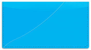 Blue Curve Checkbook Cover