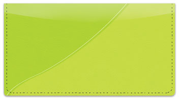 Green Curve Checkbook Cover