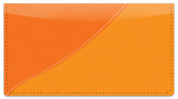 Orange Curve Checkbook Cover