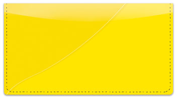 Yellow Curve Checkbook Cover