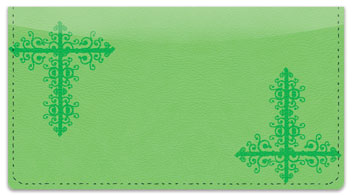 Green Corner Scroll Checkbook Cover