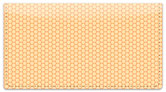 Orange Honeycomb Checkbook Cover