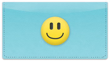 Emoticon Checkbook Cover