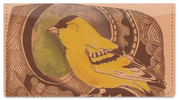 Bird Drawing Checkbook Cover