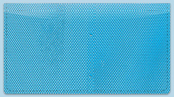 Blue Mesh Checkbook Cover
