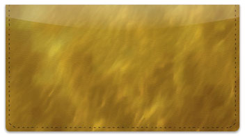 Golden Light Wave Checkbook Cover