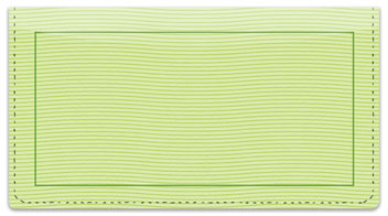 Green Safety Checkbook Cover