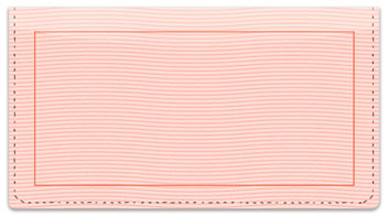 Pink Safety Checkbook Cover