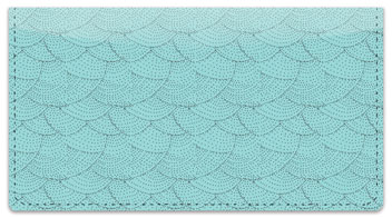 Blue Stipple Checkbook Cover