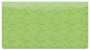 Green Stipple Checkbook Cover