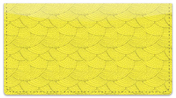 Yellow Stipple Checkbook Cover