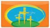 Christian Cross Checkbook Cover