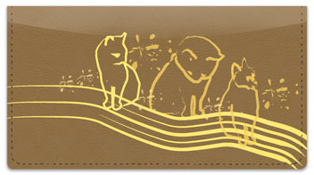 Cat Sketches Checkbook Cover