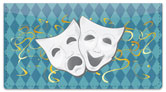 Drama Mask Checkbook Cover