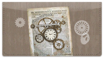 Steampunk Checkbook Cover