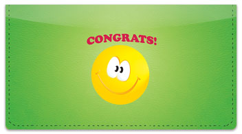 Congratulations Checkbook Cover
