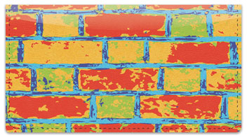 Colored Brick Checkbook Cover