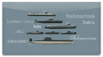 Submarine Checkbook Cover