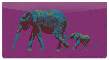 Wild Elephant Checkbook Cover