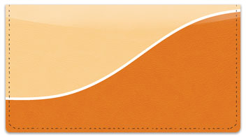 Orange Graceful Line Checkbook Cover