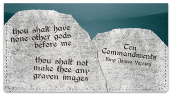 Ten Commandments Checkbook Cover