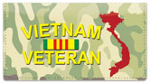 Vietnam Veteran Checkbook Cover
