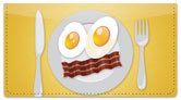 Food Face Checkbook Cover