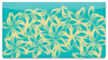 Petal Print Checkbook Cover