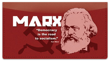 Karl Marx Checkbook Cover