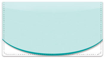 Oval Line Checkbook Cover