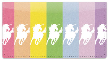 Proud Unicorn Checkbook Cover