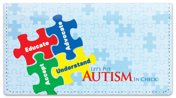 Autism Awareness Checkbook Cover