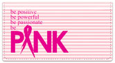 Power of Pink Checkbook Cover