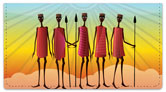 Maasai Tribe Checkbook Cover